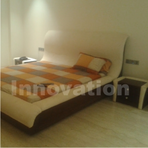 Bed room Interior in leather