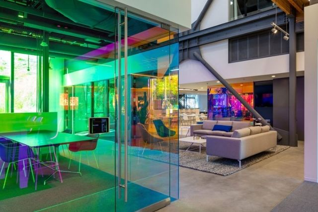 colour tinted smart glass